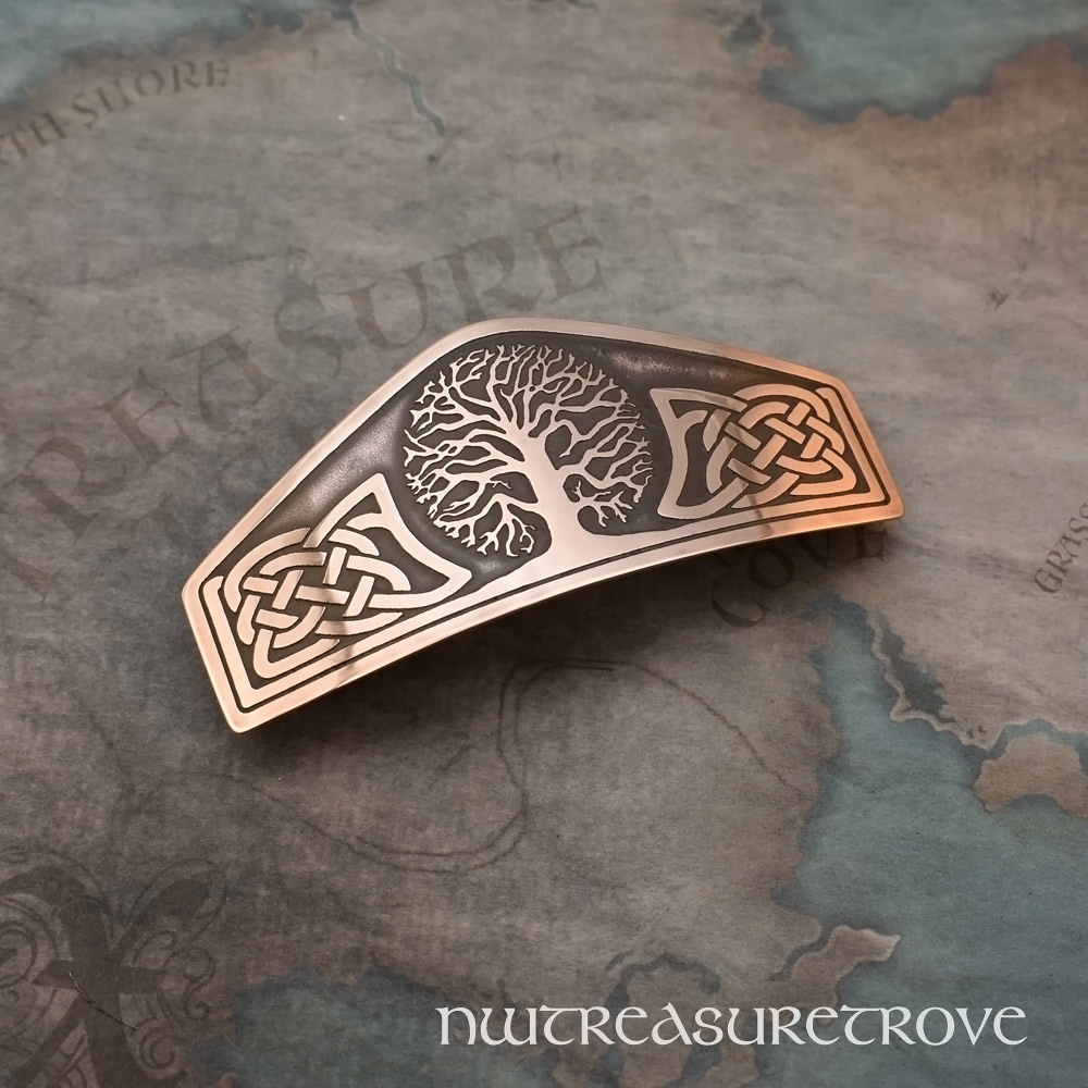 Celtic Tree of Life Copper Large Barrette CHC-2