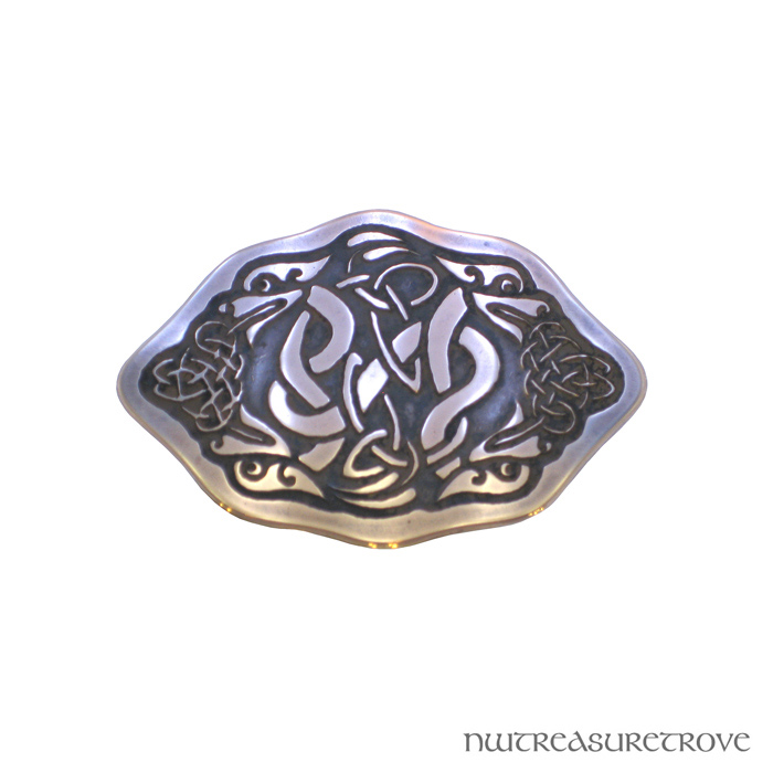 4 Celtic Dragons Copper Hair Tie CHT-100