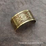 Celtic Swirl Brass Ponytail Holder BC-19