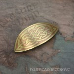 Celtic Knot Brass Large Barrette BHC-22