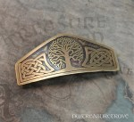 Celtic Tree of Life Brass Large Barrette BHC-2
