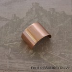 Brushed Metal Copper Ponytail Holder CC-112