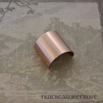 Brushed Metal Copper Ponytail Holder CC-113