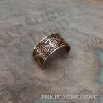 Celtic Swirl Copper Ponytail Holder CC-3