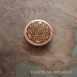 Celtic 7 Spirals Copper Hair Tie CHT-103