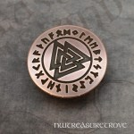 Viking Valknut Copper Hair Tie CHT-177