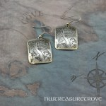 Zodiac Sign Libra Earrings Nickel Silver NE-48