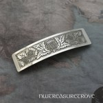 Scottish Thistle Large Nickel Silver Barrette NHC-4