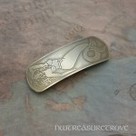 Mermaid #2 Large Nickel Silver Barrette NHC-60