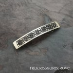 Celtic Swirl Large Nickel Silver Barrette NHC-7