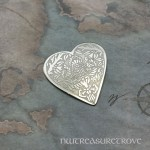 Heart w/ Thistle Nickel Silver Hair Tie NHT-33