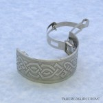 Celtic Knot Nickel Silver Ponytail Clip NPC-45