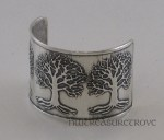 Celtic 3 Trees of Life Sterling Silver Ponytail Holder SC-1