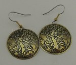Zodiac Sign Libra Brass Earrings BE-41