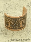 3 Celtic Trees of Life Copper Ponytail Holder CC-1